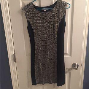 Loft black and creme dress